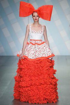 Final look for Sibling S15 LFW RTW -- mega-crochet skirt