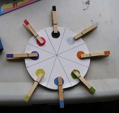 fine motor color matching. Use same concept with letters, numbers and shapes.