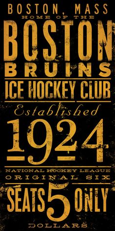 """fun for the future """"man"""" cave - BOSTON bruins ice hockey club original graphic art giclee archival signed print 10 x 20 by stephen fowler. $25.00, via Etsy."""