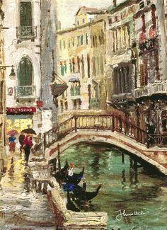 Thomas Kinkade - Venice Canal  1995