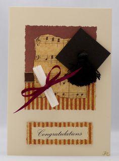 Handmade Card - Music Graduate £2.50