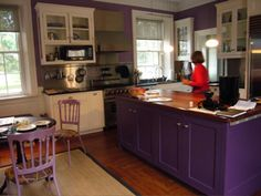 purple kitchen...