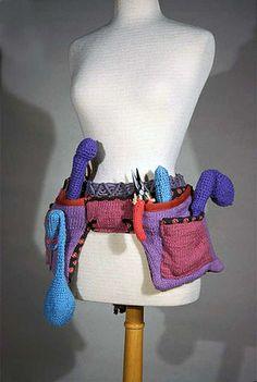 Knit Tool Belt from knit and crochet artist Theresa Honeywell via @danielle holke (knithacker)