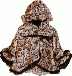 Girls Fabulous in Leopard Hooded Coat Preorder 12 Months to 6 Years