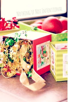 Christmas Discovery Boxes--Simple (and Free) play ideas for babies, toddlers, and preschoolers.