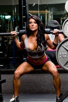 Me with brown hair.... someone took this of me working out.... ha ha