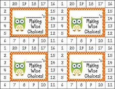 Challenging Class?  These cute owl-themed behavior cards can be used to motivate a wide range of students. $  Other themes available.