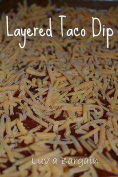 Simple Layered Taco Dip Recipe LuvaBargain.com