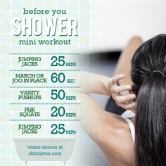 Before Your Shower - Mini Morning Workout #miniworkout #morningworkout