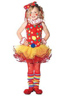 Girls Clown Cutie Tutu Costume