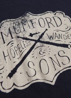 music, mumford, block prints, sons, art, songs, tee shirts, hopeless wander, t shirts