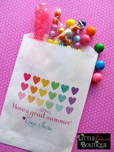 Darling candy favor bags #candy #favor #bags
