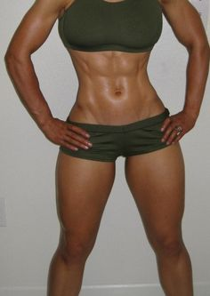 Very strong hourglass figure fit girl!