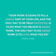 ~Steve Jobs