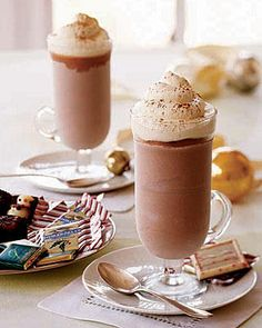 Frozen hot chocolate.