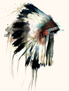 Tattoo - Native - Air dress - Watercolor - Idea - Draw