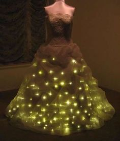 Illuminated bridal gown.
