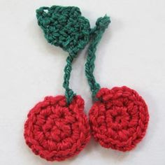 Crochet Spot » Blog Archive » Crochet Pattern: Cherry Applique - Crochet Patterns, Tutorials and News