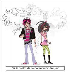 Dibujos de emo 2
