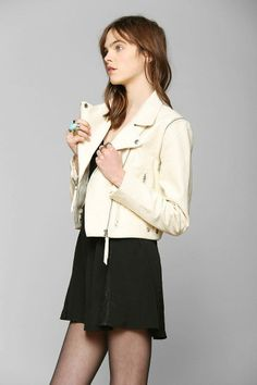 Just Female Dagmar Convertible Leather Moto Jacket #urbanoutfitters