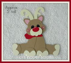 Rudolph Christmas Reindeer Paper Piecing - bjl