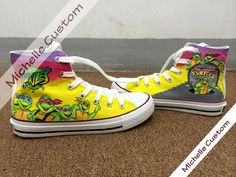 Turtles Converse,Hand Painted Shoes, High Top Converse Shoes,Custom Converse,Custom Shoes,Birthday Gifts,Kids Converse Shoes