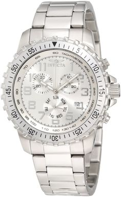 Invicta Men's 6620 II Collection Chronograph Stainless Steel Silver Dial Watch $84