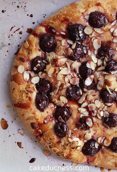 Cherry Almond Focaccia | Cake Duchess