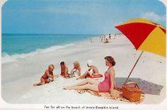 vintage Dauphin Island postcard