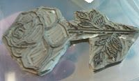 Undefined stamp set by Stampin' Up! ;Rose carved by Natasha Fodor