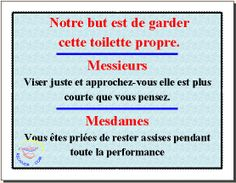 toilettes affichage on php humour and html