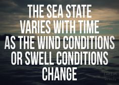 changing | swell conditions