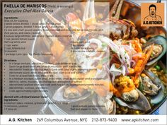 Paella De Mariscos #