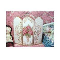 French Victorian Dollhouse Miniature Decorative Room Screen