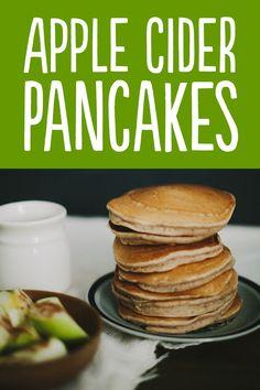 //apple cider pancakes