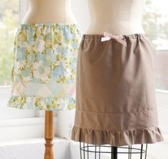 DIY (no-sew) pillowcase skirt. I must try this.