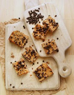 Chocolate Chip Banana Bars #paleo vegan if you use vegan choc chips