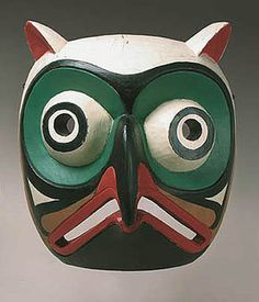 Native American Owl Mask #art