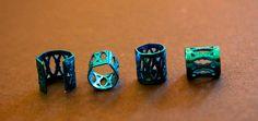 12 Blue DREADLOCK Beads  DREAD Hair Beads 8mm hole & by lyndar85, $7.00