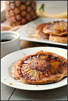 pineapples, pineappl upsidedown, food, breakfast, upsidedown pancak, eat, upside down pineapple pancakes, recip, pineappl pancak