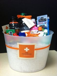 The Hangover Kit - did something similar and it was super cute
