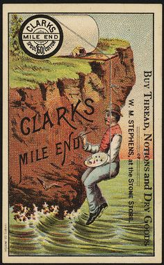 Buy thread, notions and dry goods of W. M. Stephens at the Stone Store, Clark's Mile End 60 Spool Cotton [front]