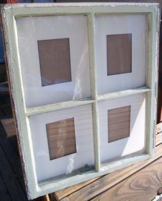 window pictur, shabby chic, shabbi chic, diy project, window idea, picture frames, window decor, reclaim window, pictur frame