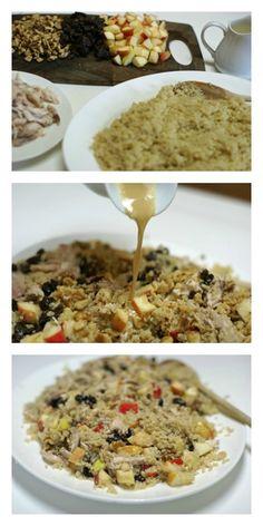 Chicken and Quinoa Waldorf Salad with Creamy Maple Vinaigrette   5DollarDinners.com
