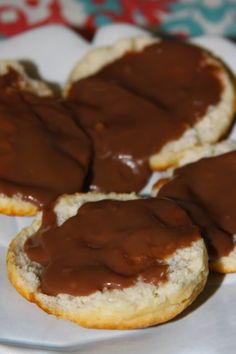 Southern Honey Butter Cream Biscuits and Chocolate Gravy