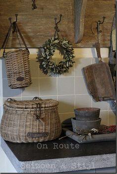 Love these basket storage