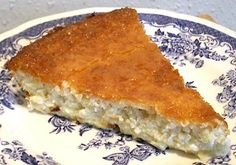 EASY LO-CARB BLENDER COCONUT CREAM PIE - tried it, it is excellent.  Just so you know, it is basically a coconut egg custard baked in a pie dish.  Next time, and there WILL be a next time, I may add some lemon zest or something to make it a little more tart.