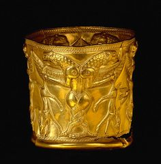 Jam-e-Marlik / Two headed Dragon Cup. / Persian Antique cup that made of pure gold. Amazing!
