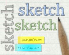 Create a Sketch Text in Adobe Photoshop