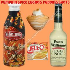 Pumpkin Spice Eggnog Pudding Shots. See full recipe and more on www ...